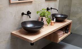floating bathroom vanities. Floating Hardwood Vanity Bathroom Vanities