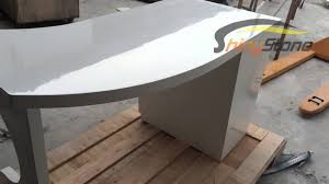 Curved shaped solid surface office desk YouTube