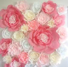 zoom on tissue paper flowers wall art with giant paper flower wall display 4ft x 4ft wedding backdrop