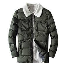 Amazon Com Mens Trench Coat Mens Winter Warm Lambs Thick
