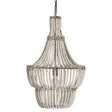 Natural & White Beaded Chandelier - Free Shipping Today - Overstock.com -  24287585