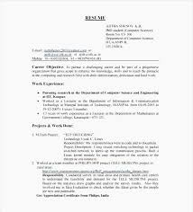 42 Unique Sample Resume Format For Freshers Software Engineers