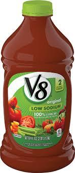 v8 100 vegetable juice low sodium original 64 fl oz