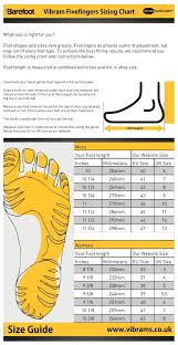 Vibram Size Chart Men Best Vibram Five Fingers Shoes For Training And Performance
