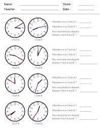 Elapsed Time Worksheets | Kiddo Shelter