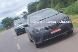 new car launches in early 2014New 2014 Toyota Corolla Spied in IndiaLaunch Early 2014