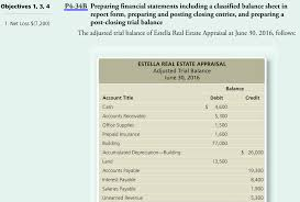 Solved Objectives 1 3 4 P4 34b Preparing Financial Stat