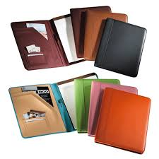 bright and traditional color leather padfolios