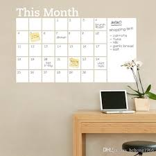 white board stickers pvc beautify dry erase calendar wall decal blackboard carved sticker this month arrange schedule useful 14dz f r tree decals tree