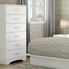 6 Drawer Bedroom Dresser Clothes Storage Metal Handles White Chest ...