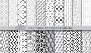 幾何学的なシームレス パターン等パターンスウォッチ イラストレーター