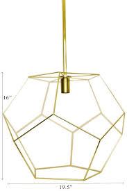 Geo Light Gold Geo Chandelier Light Fixture Chandelier Lighting