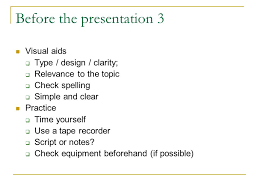 academic presentation skills ppt video online  before the presentation 3