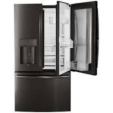 refrigerator black. ge profile 27.8 cuft french-door refrigerator with door-in-door autofill black r