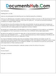 Thank You Letter For Participating In Workshop