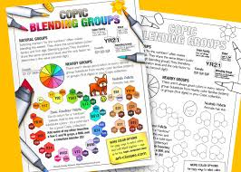 Copic Blending Groups Art Classes