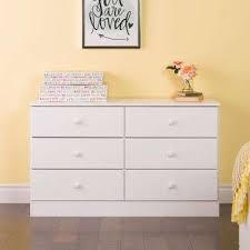 Astrid 6Drawer White Dresser