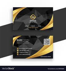 Visiting Card Design Black And Gold Luxury Business Card In Black And Gold Colors