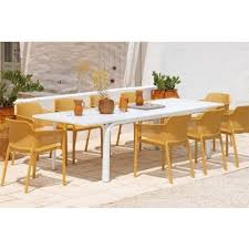 the nardi net 9 piece dining set is the newest edition to our range extension tables