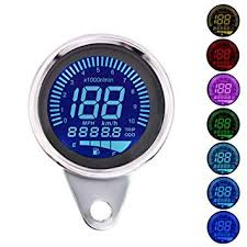TechCode <b>Motorcycle Speedometer</b> LED Digital LCD <b>Odometer 12V</b> ...