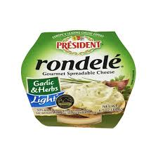 president rondele garlic herbs light cheese spread