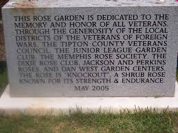 this rose garden of knock out roses in the veterans cemetery in memphis is dedicated to the memory and honor of all veterans through the generosity of the