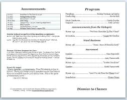 Templates For Church Programs Church Service Bulletin Template