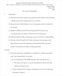 Interview Speech Outline Introduction Template Self Examples ...