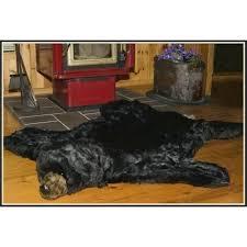 faux fur black bear skin rug taxidermy ditz designs rugs
