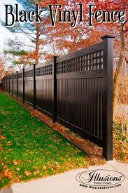 vinyl fence ideas. Delighful Fence Black Custom PVC Vinyl SemiPrivacy Fence From Illusions Adds  Amazing Character To Your Landscaping Landscapingideas In Ideas
