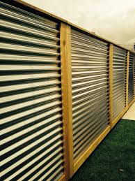 Brilliant Sheet Metal Fence Corrugated Panels On Decorating Ideas