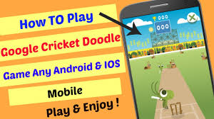 play google doodle games. Delighful Google How To Play Google Cricket Doodle ICC Champions Trophy Game Any Android U0026  IOS Mobile On Games
