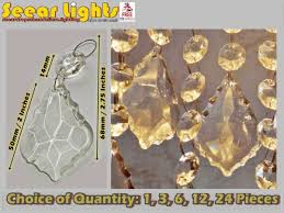chandelier droplets leaf prism beads drops antique quality cut glass crystals bn hover to zoom