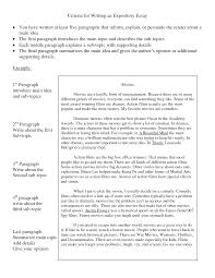 example of an expository essay template example of an expository essay