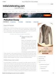 essay on pollution for kids children and students pollution  essay on pollution for kids children and students pollution natural environment
