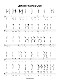 Printable Clarinet Finger Chart Free Clarinet Fingering Chart By Barry Cockcroft Reed