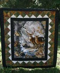 deer in the window panel quilt made by Heathr MK OWLBEESEWIN ... & quilt patterns with deer panels | Kits include pattern and fabric for top  and binding, Adamdwight.com