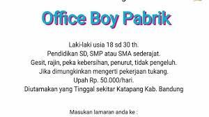 Lowongan kerja pemalang lulusan smp : Loker Pt Masplast Poly Film Bandung 2020 Lulusan Smp Sma Smk 2021