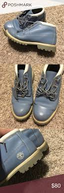 Light Blue Timbs Light Blue Timbs Baby Blue Timberland Boots Good Condition