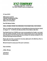 conference invitation letter ideas of invitation letter for canadian visa business sample