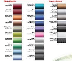 Vinyl Wrap Color Chart Wrap N Graphics Vinyl Color Chart