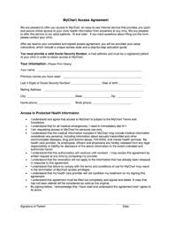 Fillable Online Mychart Access Agreement Swedish Hospital