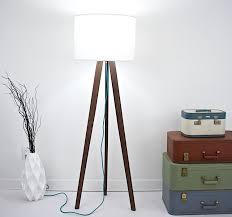 Diy Wood Floor Lamp Flooring Tripodloor Lamp Vintage Wooden Brass Antikcartormidable
