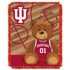 indiana hoosiers ncaa woven jacquard baby throw by the northwest at bedding com