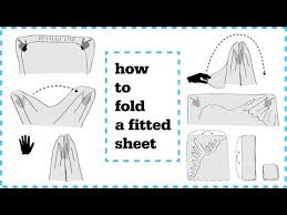 fold fitted sheet how to fold fitted sheets neatly youtube