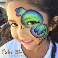 bird face painting color me face painting vanessa mendoza