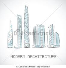 modern architecture skyscrapers sketches. Perfect Modern Buildings Collection Of Modern Skyscrapers  Csp18661792 Intended Modern Architecture Skyscrapers Sketches D