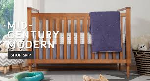 bedroom brown wooden crib by babyletto with white bedding before