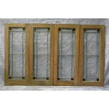 sold antique cabinet doors within leaded glass decor 13