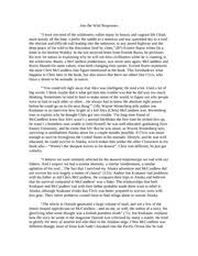 ap english essay response to into the wild into the wild  ap english essay response to into the wild into the wild responses i have not tired of the wilderness rather enjoy its beauty and vagrant life i lead
